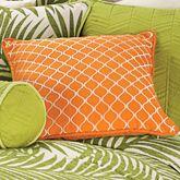 Capri Embroidered Pillow Orange 18 Square