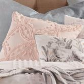 Cut Geo Tufted Chenille Pillow Pale Blush 18 Square
