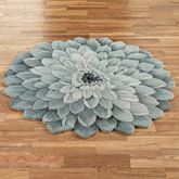 Abby Bloom Round Rug Blue
