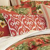 Rio de Janeiro Piped Pillow Vermillion Rectangle