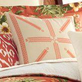 Rio de Janeiro Tailored Embroidered Pillow Cream 16 Square