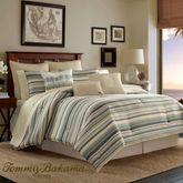 Canvas Stripe Comforter Set Multi Warm
