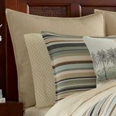 Canvas Stripe Herringbone Tailored Sham Multi Warm European