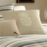 Canvas Stripe Pineapple Piped Pillow Multi Warm 20 Square