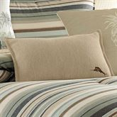 Canvas Stripe Herringbone Flanged Pillow Multi Warm Rectangle