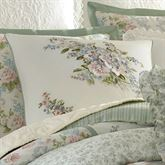 Harper Piped Embroidered Pillow Ivory 18 Square