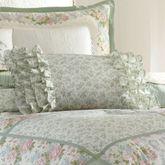 Harper Ruffled Pillow Celadon Rectangle