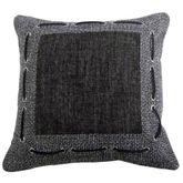 Hamilton Tailored Pillow Black 18 Square