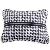 Hamilton Piped Pillow Black Rectangle