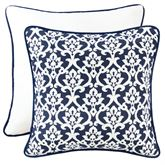 Kavali Reversible Piped Damask Sham Midnight Blue European