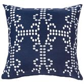 Kavali Embroidered Pillow Midnight Blue 18 Square