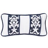Kavali Piped Damask Pillow Midnight Blue Rectangle
