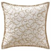 Chantelle Embroidered Pillow Ivory 16 Square