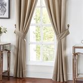 Chantelle Wide Tailored Curtain Pair Beige 100 x 84