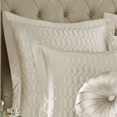 Satinique Flanged Edge Quilted Sham European
