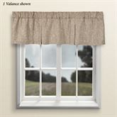 Griffin Tailored Valance Latte 54 x 15