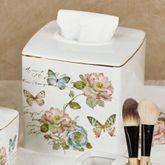 Butterfly Garden Tissue Cover Ivory