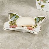 Butterfly Garden Soap Dish Ivory