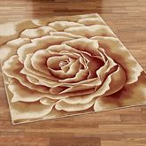 Rose Floral Splendor Rectangle Rug Cream