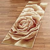 Rose Floral Splendor Runner Rug Cream 22 x 711