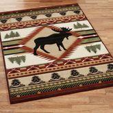 Moose Wilderness Rectangle Rug Terra Cotta