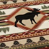 Moose Wilderness Runner Rug Terra Cotta 27 x 74