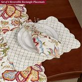 Bethany Reversible Rectangle Placemats Multi Warm Set of Four