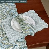 Amherst Reversible Rectangle Placemats Blue Set of Four