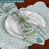 Amherst Reversible Napkins Blue Set of Four