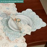 Seabrook Reversible Rectangle Placemats Multi Pastel Set of Four