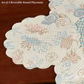 Seabrook Reversible Round Placemats Multi Pastel Set of Four