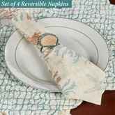 Seabrook Reversible Napkins Multi Pastel Set of Four