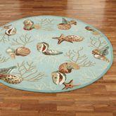 Coral Life Seashell Round Rug 76 Round