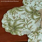 Barbados Sea Reversible Round Placemats Multi Cool Set of Four