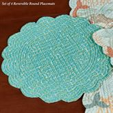 Dancing Waters Reversible Round Placemats Multi Pastel Set of Four