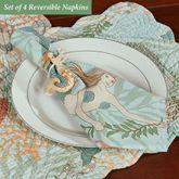 Dancing Waters Reversible Napkins Multi Pastel Set of Four
