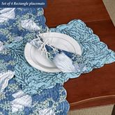 Cape Coral Reversible Rectangle Placemats Blue Set of Four
