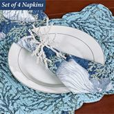 Cape Coral Reversible Napkins Blue Set of Four