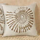 Nautilus Shell Accent Pillow Ivory
