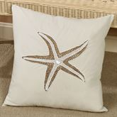 Starfish Accent Pillow Ivory