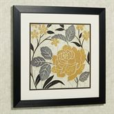 Perfect Petals II Framed Wall Art Black