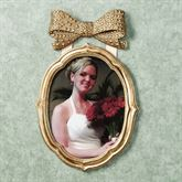 Bow Wall Photo Frame Gold