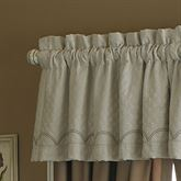 Graceful Pirouette Tailored Valance Light Almond 50 x 18