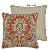 Harrogate Reversible Corded Pillow Ember Glow 18 Square