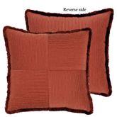 Harrogate Fringed Pillow Ember Glow 19 Square