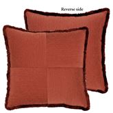 Harrogate Fringed Pillow Ember Glow 19 Square