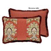 Harrogate Reversible Fringed Pillow Ember Glow Rectangle