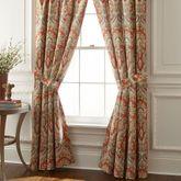 Harrogate Wide Tailored Curtain Pair Ember Glow 100 x 84