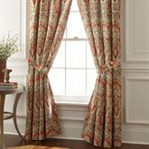 Harrogate Wide Tailored Curtain Pair Ember Glow 100 x 84