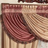 Majesty Waterfall Valance Wood Rose 48 x 30